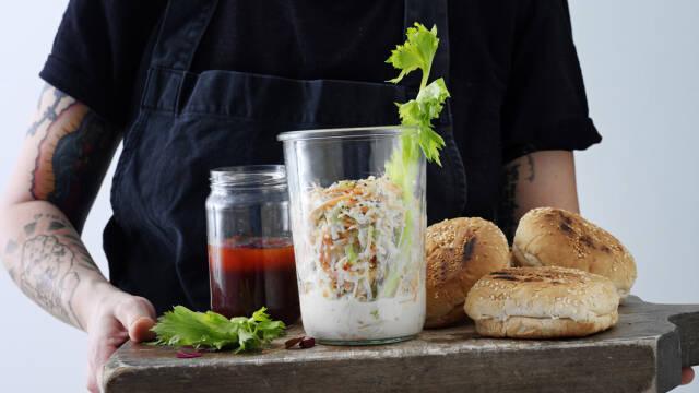 Coleslaw salat - Nem opskrift på coleslaw dressing