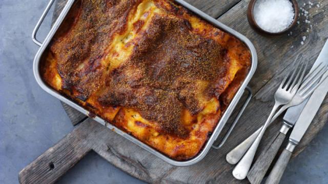 Lasagne bolognese i fad