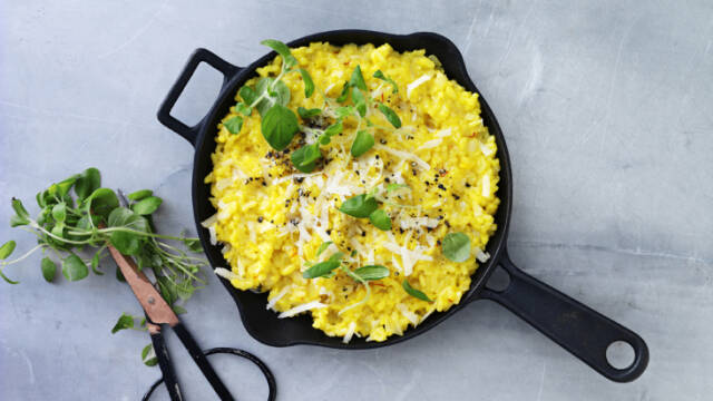 Risotto milanese i pande