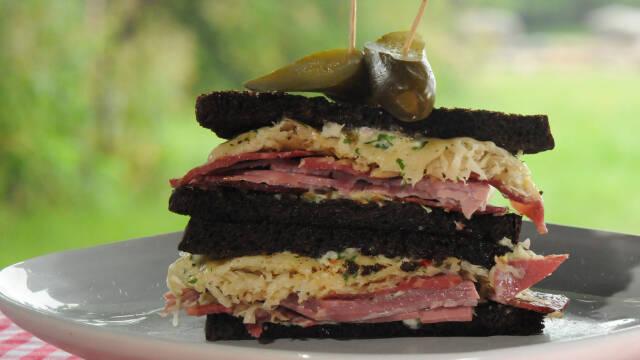 Billede af reuben sandwich