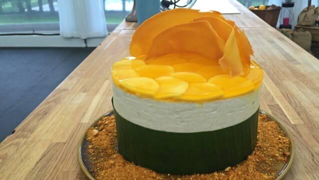 Flot kage med mango og kokos