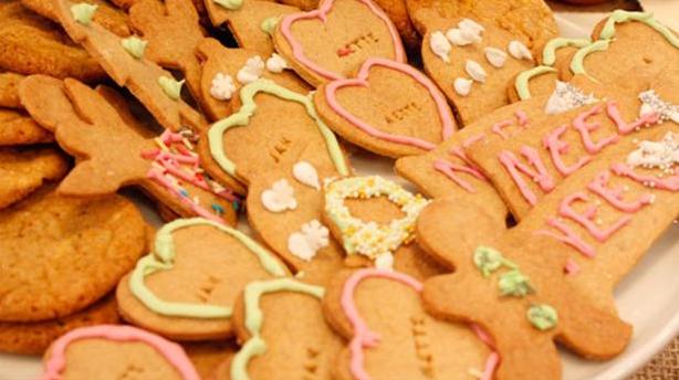 Billede af Evers julekrydderkager med glasur.