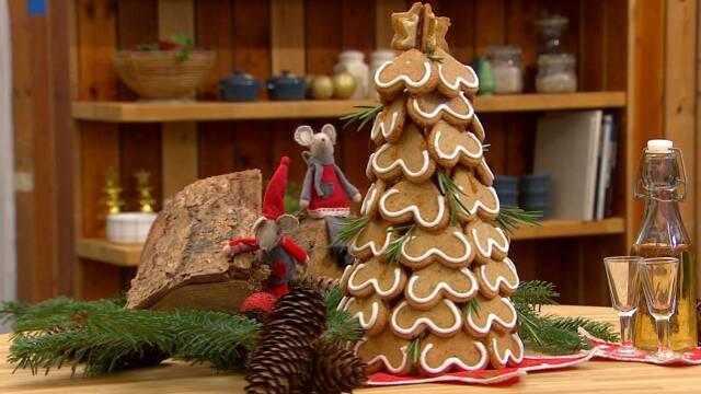 Flot juletræ lavet af lækre honningkager