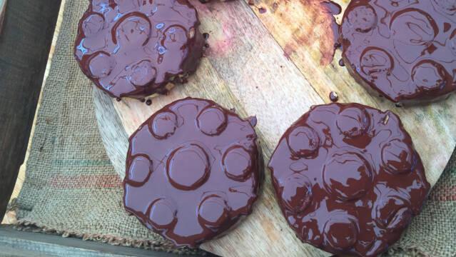 Chokolade-koblinger med citronskum