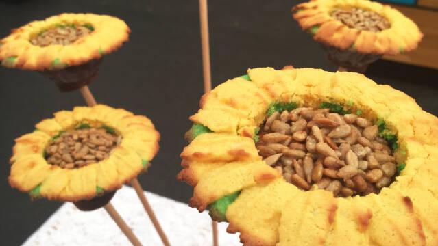 kager formet som solsikker