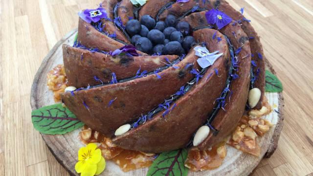 Spiralkage med blåbær