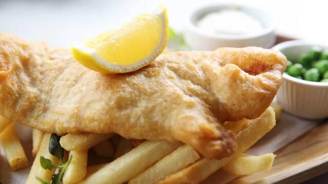 Billede af fish and chips.