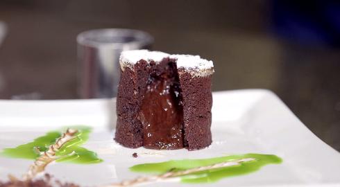 Chokoladefondant med karamelganache