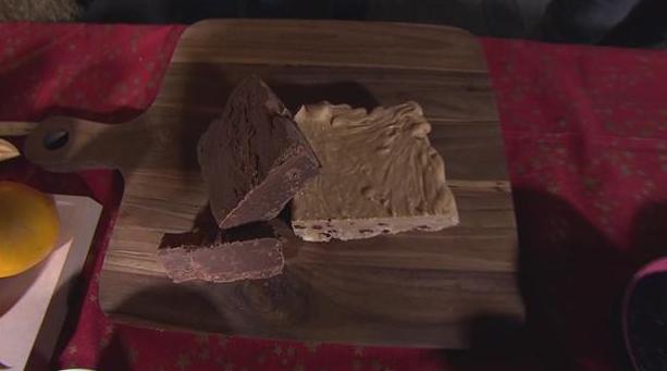 Billede af fudge med chokolade