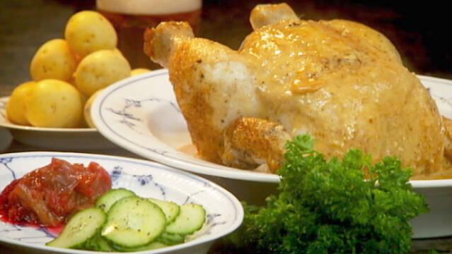 Billede af gammeldaws kylling med skilt sovs