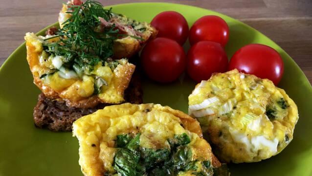Lækre, nemme og sunde æggemuffins
