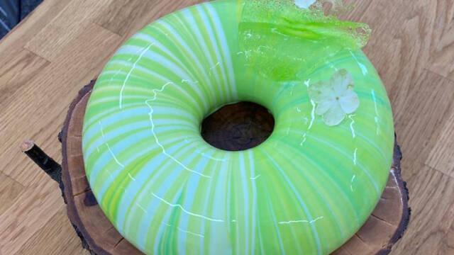 Grøn glazekage
