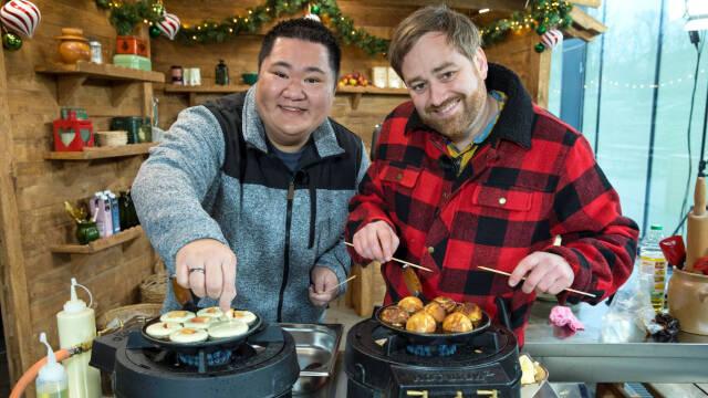 Micki Cheng og Gorm Wisweh med deres æbleskiver