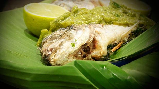 Billede af green thai-fish curry med lime