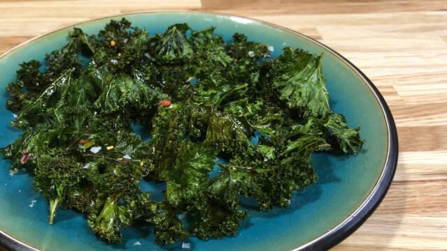 Lækre, sprøde grønkålschips