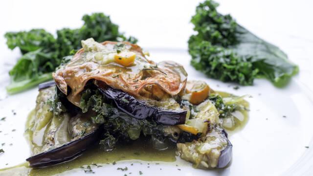 vegetar lasagne med grønkål