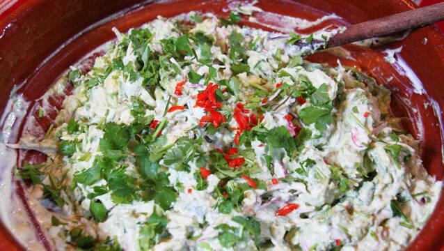 Guacamole i grov udgave i skål