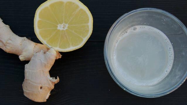 Billede af ingefærshots med citron