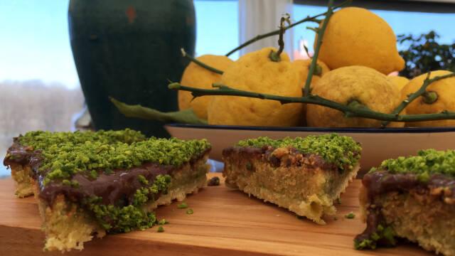 Snitter med pistacie og citron