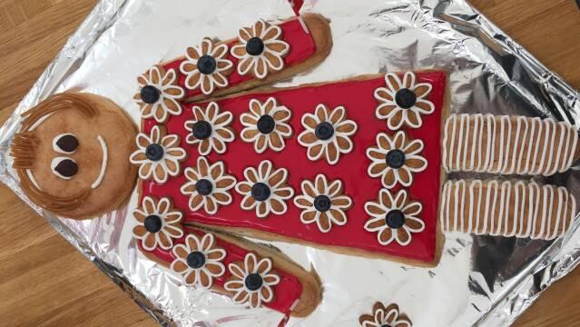 Billede af flot kagekone lavet af kransekage