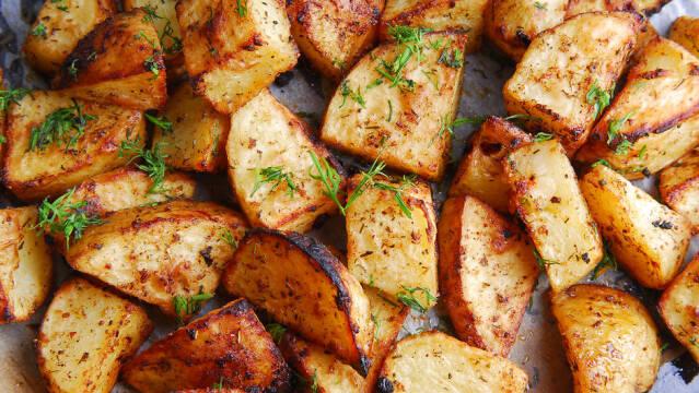 Ristede kartoffelbåde