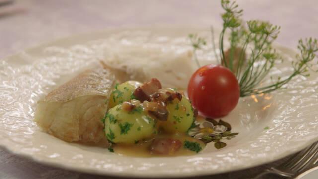 Billede af saltgrøner torsk med Gudhjemmadyppa