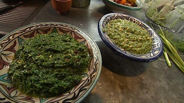 Pesto med masser af krydderurter