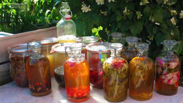 Kryddereddiker i flasker
