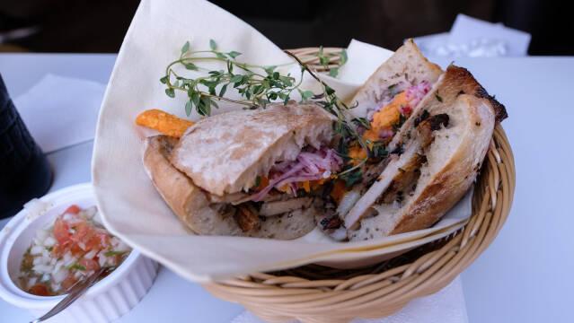 chicharron sandwich