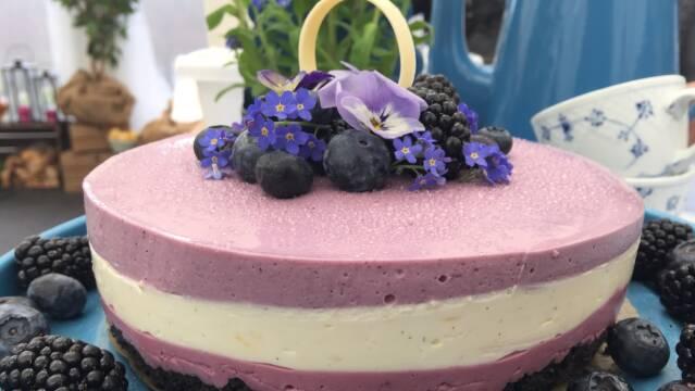 Billede af Violet cheesecake med blåbær og brombær