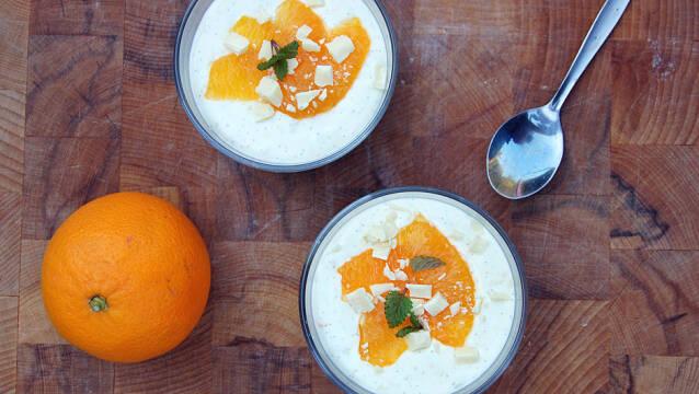 Billede af cheesecake med appelsin