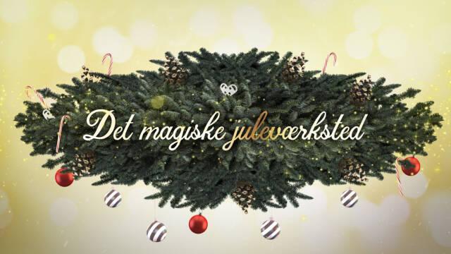 Det magiske juleværksteds titelskilt