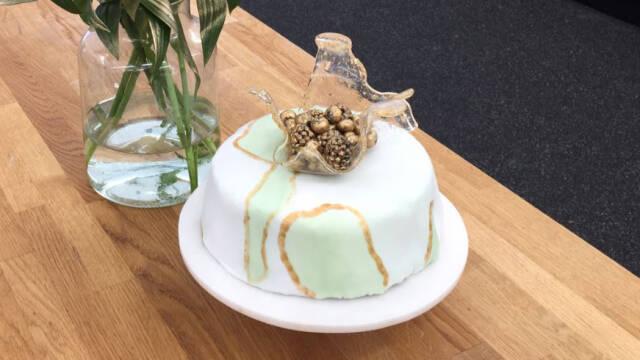 kage med fondant og isomalt