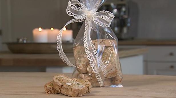 Biscotti med mandel og pistacie i fin pose