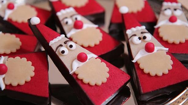 Sjove julenisser i marcipan og chokolade
