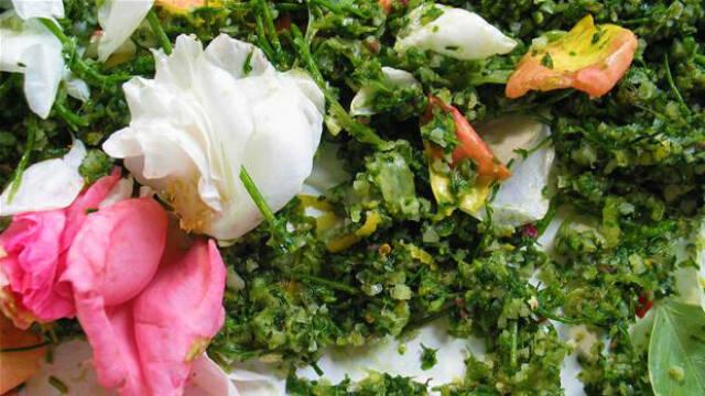 Marokkansk kryddersalt med blomster