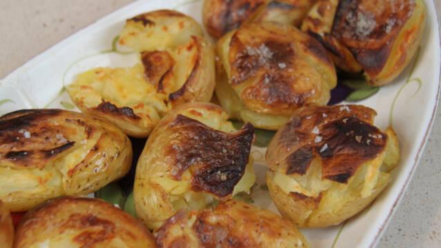 Sprøde kartofler med bernaisesmør