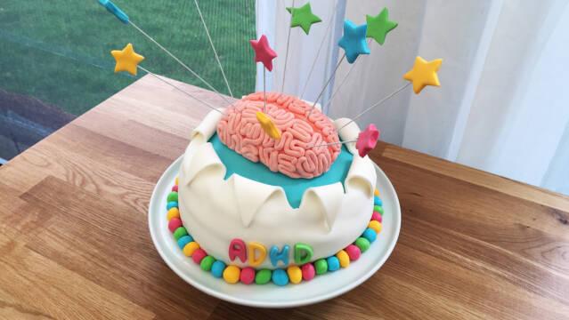 ADHD-kage med fondant