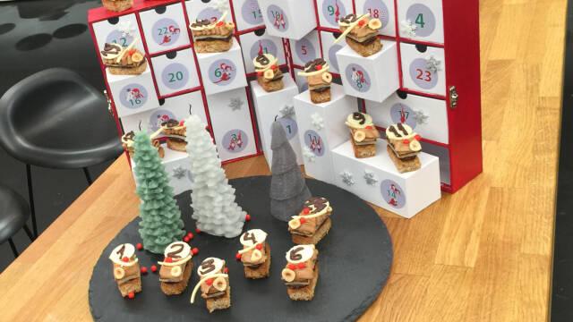 konfektsnitter med julepynt