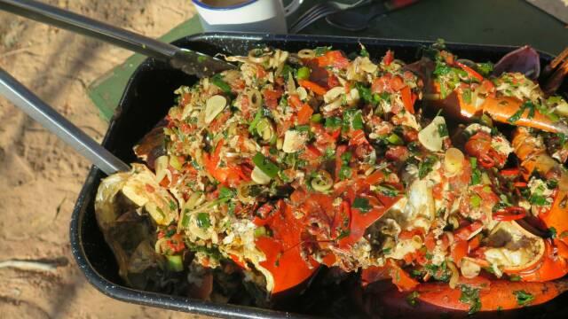 Billede af opskrift med krabbe, tomat og chili