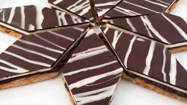 Snitter med chokoladeganache og pebermynte