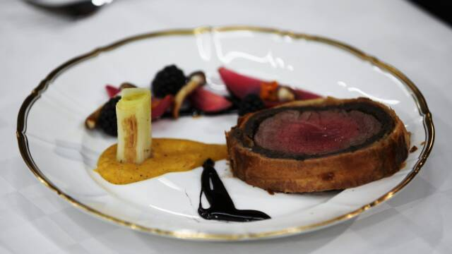 Beef Wellington på tallerken