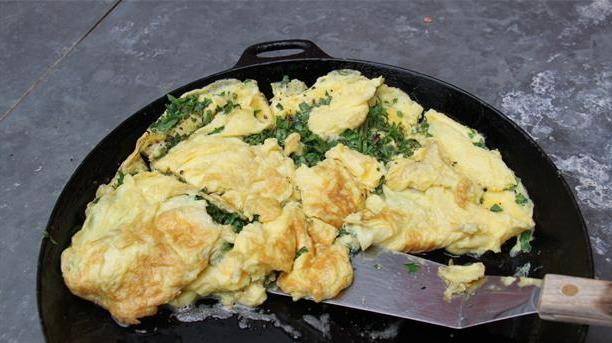 Omelet med urter