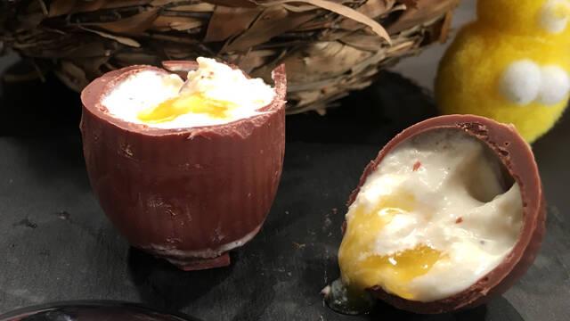 Chokoladeæg med fyld til påsken