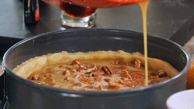 Pecan pie i form