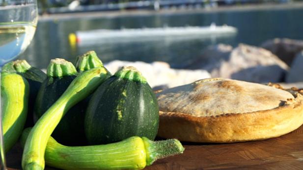 Billede af provencalsk courgettetærte