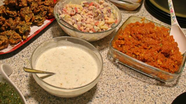 Pakistansk raita som tilbehør til middagen