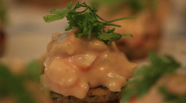 Billede af rejesalat med mayonnaise