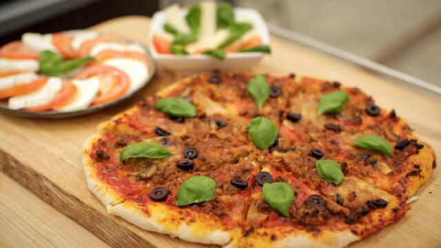 Pizza med lam