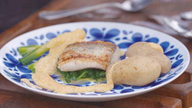 fisk og kartofler